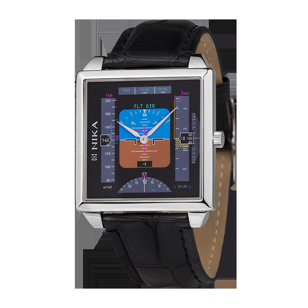 Купить серебряные мужские наручные часы НИКА НИКА Авиа артикул S6001 ... ebbd228ea63