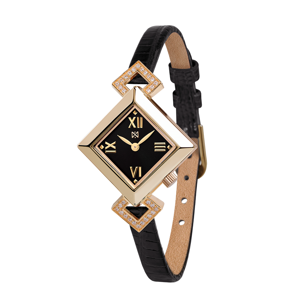 5e3deb653276 Купить золотые женские наручные часы НИКА VIVA артикул 0910.2.1.51A с  доставкой - nikawatches.ru